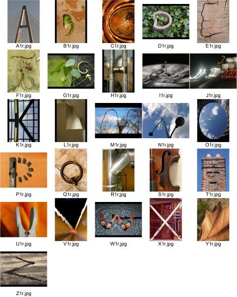 Planche contact des photographies exposées