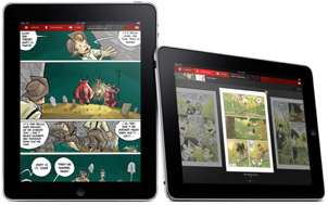 Illustration de BD sur iPad par Panelfly